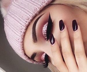 makeup, pink, and nails image