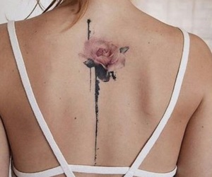 flower, mini, and tattoo image