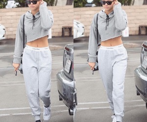Calvin Klein, cropped hoodie, and chic image