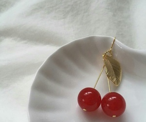 aesthetic, cherry, and red image