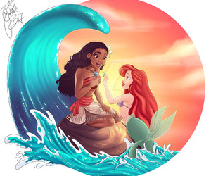 ariel, art, and ocean image