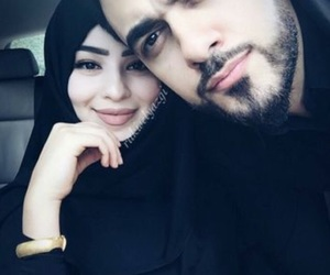 couple, hijab, and حُبْ image