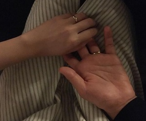 couple, rings, and hand holding image