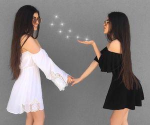 dress, girl, and twins image