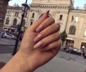 city, nails, and pink image