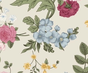 wallpaper, flowers, and floral image
