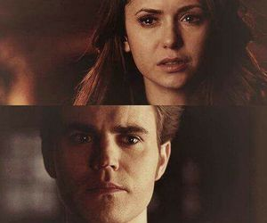 elena gilbert, stefan salvatore, and the vampire diaries image