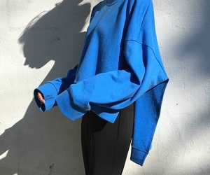 blue, fashion, and lookbook image