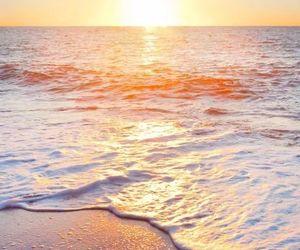 beach, wallpaper, and sun image