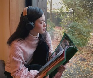 asian, girl, and headphones image