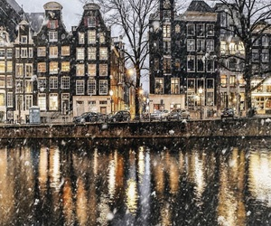 amsterdam, city, and winter image