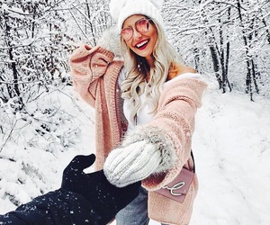 winter, girl, and accessories image