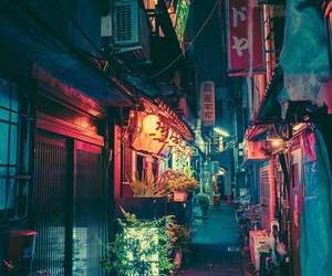 city, lights, and tokyo image