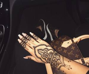 fashion, henna, and nails image