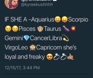 freaky, pisces, and loyal image