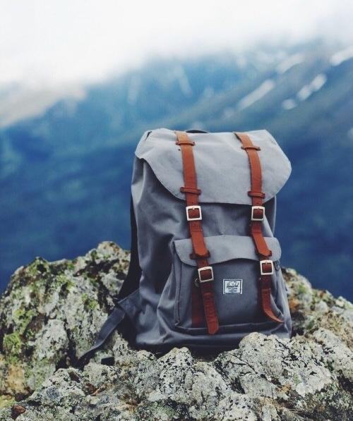 travel, bag, and mountains image