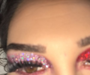 eyes, eyeshadow, and glitter image