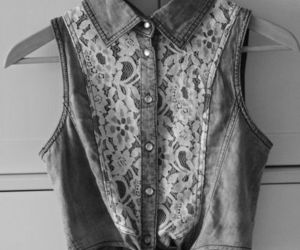 black and white, buttons, and floral image