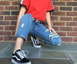 fashion, style, and vans image