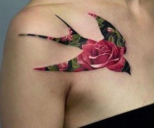 rose tattoo, tattoo, and Tattoos image