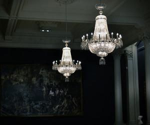dark, art, and art gallery image