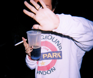 grunge, smoke, and drink image