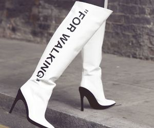 boots, high fashion, and off white image