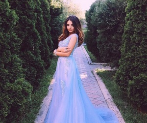 blue dress, Couture, and dress image