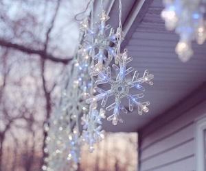 christmas, snow, and snowflakes image