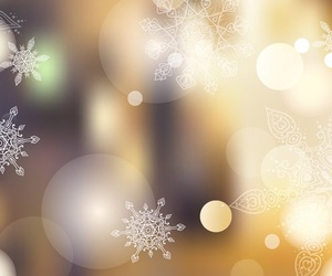 beautiful, snowflake, and golden image