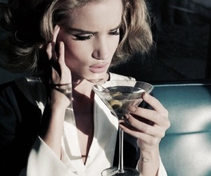 model, martini, and drink image
