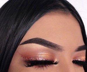 eyes, eyeshadow, and girl image