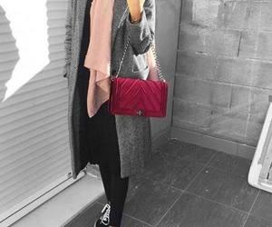 bag, cardigan, and hijab image
