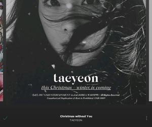 kim taeyeon, this christmas, and myplaylist image