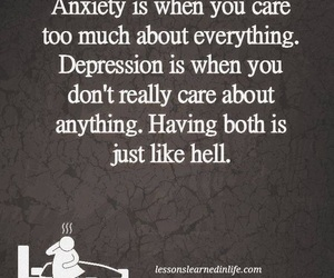 anxiety, depression, and life image