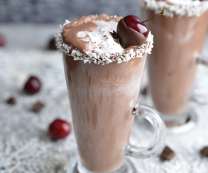 sweet, chocolate, and cherry image
