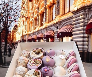 food, winter, and lights image