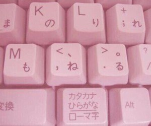 aesthetic, pink, and keyboard on japanese image