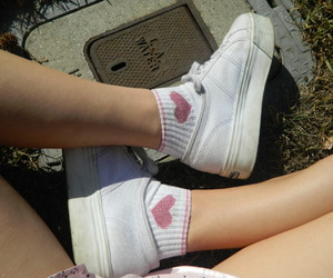 shoes, pale, and heart image