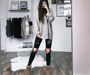 sneakers, boots, and outfit image