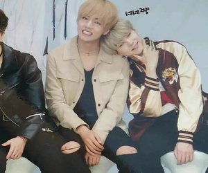 bts, v, and taegi image