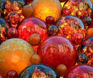 aesthetic, colorful, and spheres image