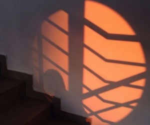 aesthetic, orange, and ombre image