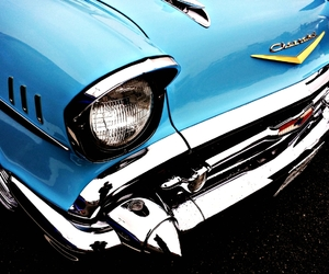 automobile, bel air, and chevrolet image