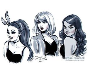 selena gomez, Taylor Swift, and ariana grande image