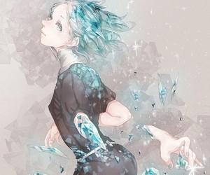 anime girl, diamond, and houseki no kuni image