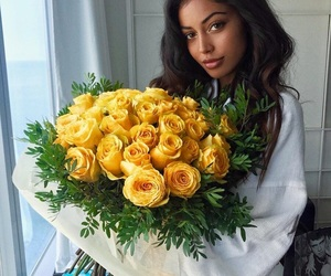 fashion, flowers, and yellow image