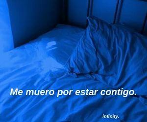 azul, cama, and desamor image