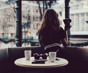 girl, photography, and coffee image