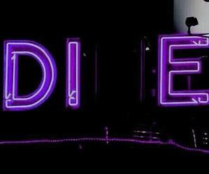die, neon, and grunge image